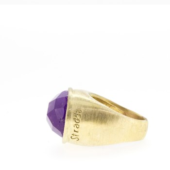 RING SILVER AND AMETHYST  Stradda 15SR12