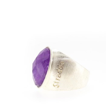 RING SILVER AND AMETHYST  Stradda 15SR15