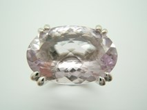 RING-SILVER AND AMETHYST-88/96-20 B-79 A-88/96-20