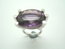 RING SILVER AND AMETHYST B-79