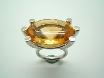 RING SILVER AND CITRINE B-79