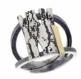 SILVER AND GOLD RING-Craft-20272