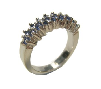 RING SILVER AND SAPPHIRE