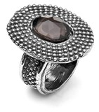 RING PLATADEPALO OF SILVER WITH QUARTZ R35T12 SILVER OF BAT R35T10 Plata de palo