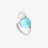 RING REBECCA STONE HYDROTHERMAL A SIZE 14 BHSABT6
