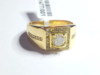 RING SOLITAIRE SOLID GOLD - OWN - 68350