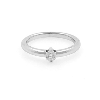 RING SOLITAIRE WHITE GOLD WITH DIAMOND 0,20 QUIATES 0890259