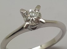 SOLITAIRE OR BLANC ET DIAMANT NATUREL B-79