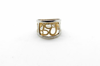 RING RING TWO-TONE 18K GOLD - OWN - 52590-S/X