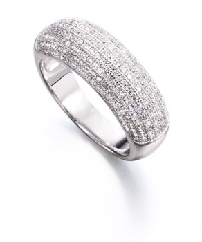 RING RING SILVER RHODIUM-PLATED WITH CUBIC ZIRCONIA - OWN - FR2257