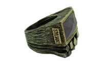 RING STYLIANO SILVER GOLD AND AMETHYST 008780010
