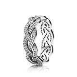 RING BRAID BRIGHT PANDORA 190913CZ