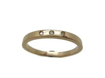RING RING WEDDING IN RED GOLD AND BRIGHT 3 B-79 RTOV3B15