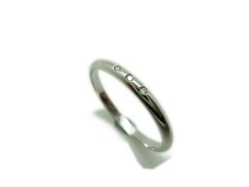 RING RING WEDDING WHITE GOLD AND BRIGHT 3 B-79 MCOB3B23