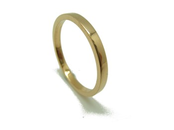 RING RING YELLOW GOLD RECTANGULAR WEDDING B-79 RTOG15