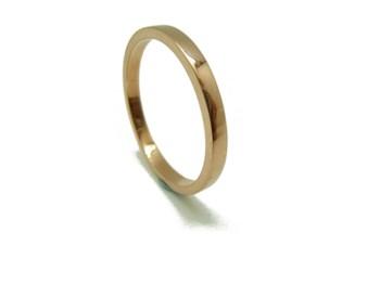 RING ring wedding rectangular red gold B-79 RTOV10