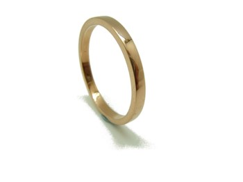 RING RING WEDDING RECTANGULAR RED GOLD B-79 RTOV27