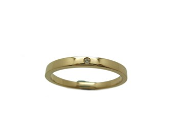 RING RING RECTANGULAR WEDDING IN GOLDEN YELLOW AND BRIGHT B-79 RTOGB15