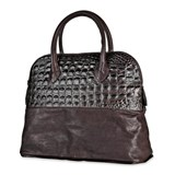 GIFT ITEMS ACC41 BAG SILVER STICK SKIN BROWN AND IMITATION CROCODILE Plata de palo
