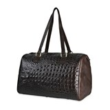 GIFT BAG BROWN LEATHER ALLIGATOR ACC43 STICK SILVER FLAKE Plata de palo