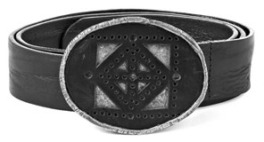 BELT LEATHER BUCKLE GEOMETRIC CT5T80 STICK SILVER GIFT ITEMS Plata de palo