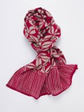 GIFT ITEMS PLATADEPALO SCARF FLOWERS RED RAW F8A SILVER STICK Plata de palo