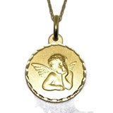 MEDAL FOR BABY YELLOW GOLD 18KTES OF 1.6 CM DIAMETER AND CHAIN 40CM NEVER SAY NEVER