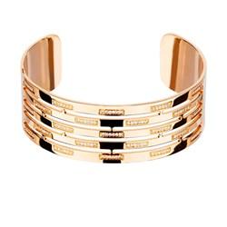 Brazalete de oro rosa con diamantes. CNB-0100/2 Oreage