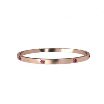 ROSE GOLD AND RHODOLITE GARNET AND DIAMOND BRACELET. CNB-0024/1 Oreage