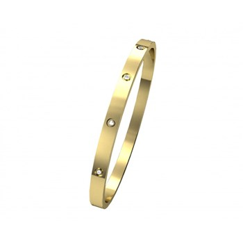 Bracelet or et diamants. CNB-0030/1 Oreage
