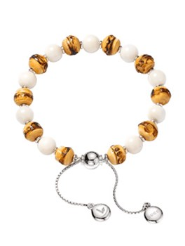 GUCCI BAMBOO-TAGUA AND SILVER YBA318304001017 BRACELET