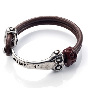 VICEROY CUFF LEATHER AND METAL 1001P19011