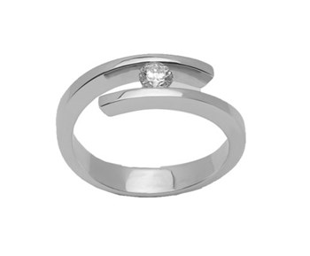 Solitaire ring white gold and diamond B-79 A-347