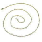 CHAIN DIAMOND CUT CURB IN 18K YELLOW GOLD 60CM MENS 2.00 MM THICK AND 4.15 G NEVER SAY NEVER
