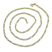 CHAIN 18K YELLOW GOLD MENS MODEL 3X1 3MM WIDE BY 60CM NEVER SAY NEVER
