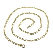 CHAIN 18K YELLOW GOLD MENS MODEL 3X1 60CM LONG AND 3MM WIDE, NEVER SAY NEVER