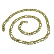 CHAIN 18K YELLOW GOLD MENS MODEL 3X1 8MM THICK BY 60CM LONG NEVER SAY NEVER