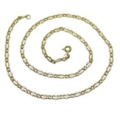 CHAIN OF 18K YELLOW GOLD WOMEN S 45CM LONG AND 3.5 MM WIDE. NEVER SAY NEVER
