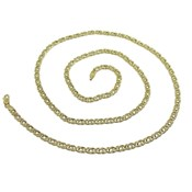 CHAIN YELLOW GOLD MENS 4MM WIDE AND 60CM LONG CLOSE MOSQUETON NEVER SAY NEVER