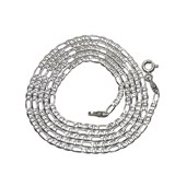 CHAIN IN 18K WHITE GOLD MENS MODEL 3X1 ANCHOR 2MM WIDE BY 60CM NEVER SAY NEVER