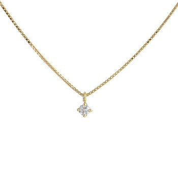 NECKLACE CHAIN LAW 18 K GOLD YELLOW DIAMOND PENDANT SIZE BRIGHT 487041 Karammelo