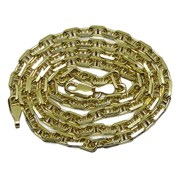 Chain for Yellow Gold Woman 18k Macizo Model Forced with Barra Plana10 Never say never