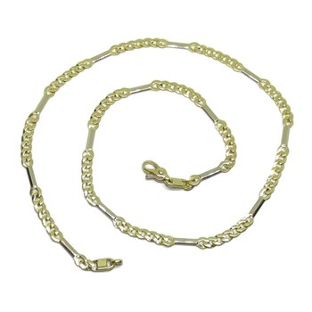 CHAIN FOR WOMEN OF WHITE GOLD AND 18K YELLOW GOLD TYPE NECKLACE 45CM NEVER SAY NEVER
