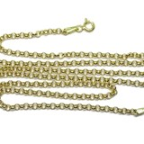 CHAIN FOR WOMEN MADE OF PURE GOLD OF 18K MODEL ROLO FLAT 3MM WIDE, AND 50CM NEVER SAY NEVER