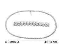 CHAIN 45 CM IN LENGTH 4MM THICK K500TB45 STERLING SILVER Marina Garcia