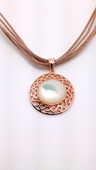 Necklace chain & pendant plated rose gold