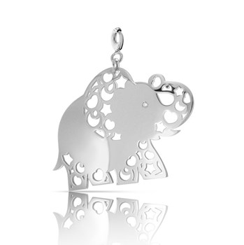 Silver with silver 0055D Heart Charm NECKLACE Pasquale Bruni