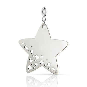 Charm silver NECKLACE with large silver 0058D star Pasquale Bruni