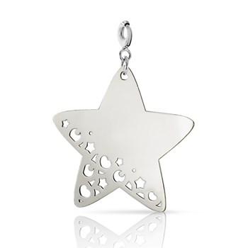 COLLAR Charm de plata con Estrella de plata grande 0058D Pasquale Bruni