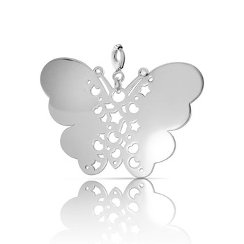 Charm silver NECKLACE with big Butterfly 0057D Pasquale Bruni